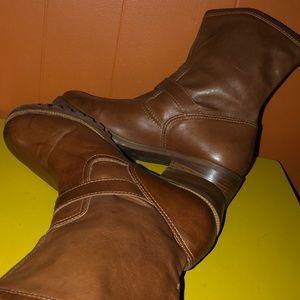 Michael Kors Shoes - Michael Kors Brown Leather Shortie Harness Boots